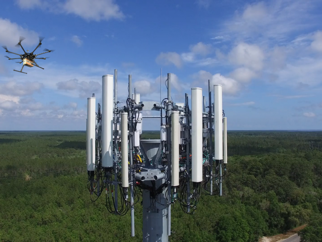Cell Tower with Drone